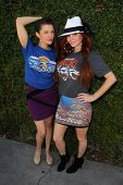 LOS ANGELES - JUN 18:  Alicia Arden, Phoebe Price at the Private LA Football League Summer Suite featuring LA Football League T-Shirts at the Private Location on June 18, 2014 in Los Angeles, CA