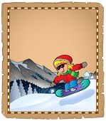 Parchment with winter sport theme 2 - eps10 vector illustration.