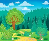 Spring theme landscape 9 - eps10 vector illustration.