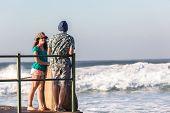 Girl Boy Beach Ocean Social