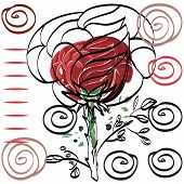 Nothing Significant Contour Drawing Rose Card For Congratulations.
