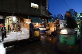 Tokyo - Nov 26: Shoppers Visit Tsukiji Fish Market In Tokyo