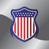american flag shield theme