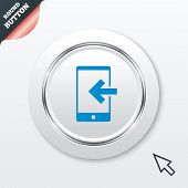 Incoming call sign icon. Smartphone symbol.