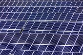 solar panels, symbol photo for alternative energy and sustainability