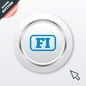Finnish language sign icon. FI translation.