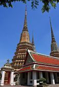 Authentic Thai Architecture In Wat Pho At Bangkok Thailand
