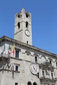 Ascoli Piceno, Italy - June 02, 2014: The Palazzo Dei Capitani Del Popolo
