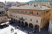 Ascoli Piceno (marche, Italy) - The Main Square, Piazza Del Popolo