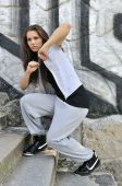 Young Woman In Hip Hop Style Dance Portrait