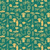 Bike seamless pattern