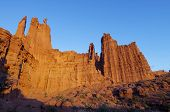 landscape of the towers in the desert area known as