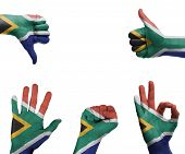 Hand Set With The Flag Of South Africa