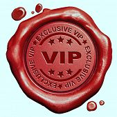 exclusive VIP treatment or tickets for very important people and celebrities red wax seal stamp