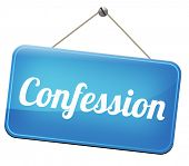 pic of repentance  - confession plea guilty as charged and confess crime testimony or proof truth  - JPG
