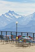 Observation Deck And Restaurant In The High Alps In Switzerland