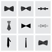 picture of gents  - Vector bow ties icon set on grey background - JPG