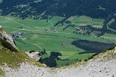 image of ravines  - Large view from the ravine in Austria Alps - JPG