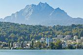 Mount Pilatus On Lake Lucerne In Switzerland