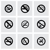 Vector no smoking icon set