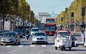 The Champs-Elysees and the Triumphal Arch de l Etoile