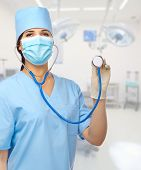 Young smiling doctor with stethoscope