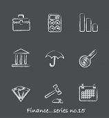 Finance chalkboard icons...series no.15