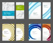 Set of Brochure Flyer design vector template Geometric Lines and Lights abstract backgrounds