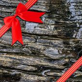 Red Ribbon With Corner Bow