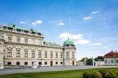 Belvedere historic building in Vienna, Austria
