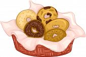 Illustration Featuring Bagels of Different Flavors