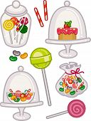 Illustration Featuring a Wide Variety of Sweets in Fancy Jars