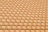 Orange Seat In Sport Stadium