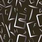 Alphabet Letters Seamless Pattern