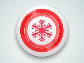 Beautiful glossy icon decorated with snowflake for Merry Christmas and other occasion celebrations.