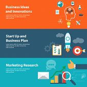 Flat design concepts for business, finance, planning, marketing research