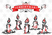 Tattoo Style Holy Christmas Candle