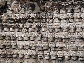Wand der Stein Schädel