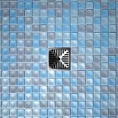 Shower Floor Drain And Mosaics