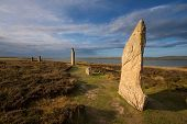 stock photo of megaliths  - The Ring of Brodgar - JPG
