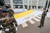 Hoisting Vatican flag - European Parliament
