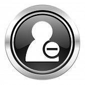 remove contact icon, black chrome button