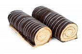 Two Chocolate Rolls