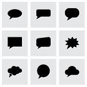 Vector speach bubbles icon set