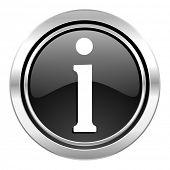 information icon, black chrome button