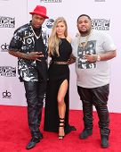 LOS ANGELES - NOV 23:  YG, Fergie, DJ Mustard at the 2014 American Music Awards - Arrivals at the Nokia Theater on November 23, 2014 in Los Angeles, CA