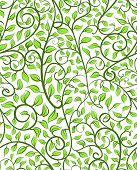 Intricate Seamless Pattern With Leaves