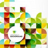 Abstract modern flyer - brochure design template, geometric background