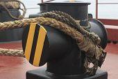 mooring the ship bollard