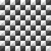 chessboard pyramid seamless pattern
